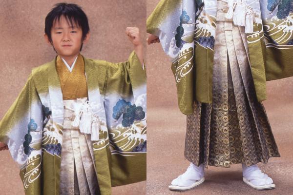 五歳お祝い着レンタル カタログ柄507-S(身長98cm-109cmの方用)