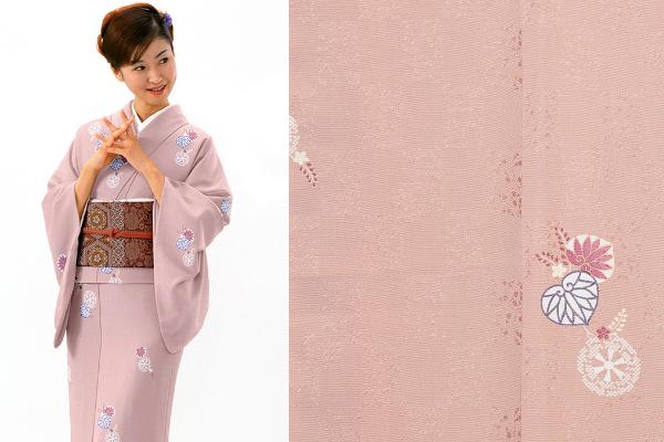 【ネット注文限定商品】小紋レンタルKRB46-A2(身長160cm前後、9-13号、ヒップ85-100cm)