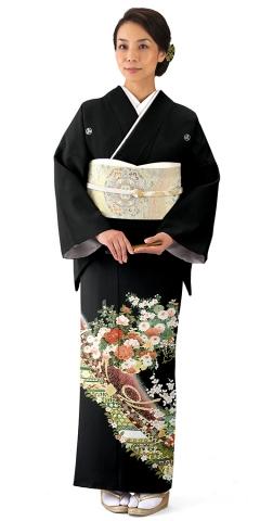 単衣・黒留袖レンタルTRB018H A0(身長150cm前後・ヒップ80-95cm位の方用)