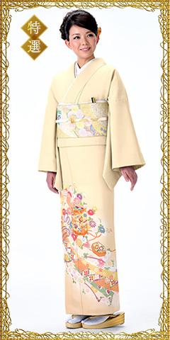 色留袖レンタルIRB1215 A2(身長160cm前後、9-13号、ヒップ85-100cm)