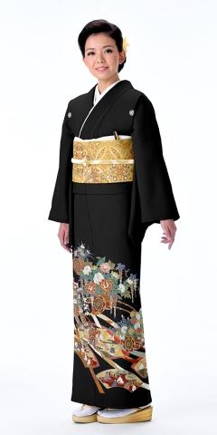 黒留袖レンタルTRB0446 A1(身長155cm前後・ヒップ80-95cm位の方用)
