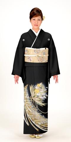 黒留袖レンタルTRB0900 B0(身長150cm前後・ヒップ100-110cm位の方用)