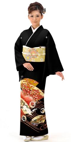 【ネット注文限定価格】黒留袖レンタルTRB0121 A1(身長155cm前後・ヒップ80-95cm位の方用)