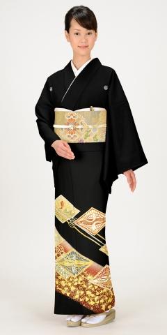 黒留袖レンタルTRB0190 A0(身長150cm前後・ヒップ80-95cm位の方用)