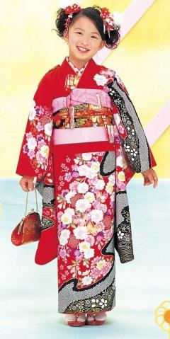七歳お祝い着レンタル カタログ柄713(身長110〜125cmの方用)