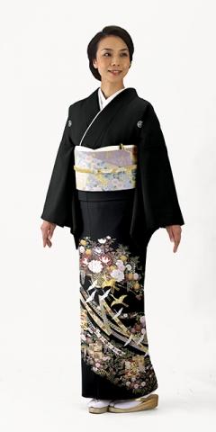 単衣・黒留袖レンタルTRB023H A0(身長150cm前後・ヒップ80-95cm位の方用)