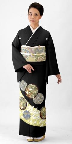 黒留袖レンタルTRB0418 A0(身長150cm前後・ヒップ80-95cm位の方用)